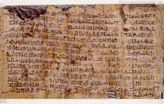 Amazing! Ancient Papyrus written by the Egyptian priest Ipuwer describe the 10 plagues of the bible.