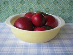 Vintage Yellow Pyrex Bowl Casserole 024 2 quart   Desert Dawn by LucyBettyNJune, $14.00