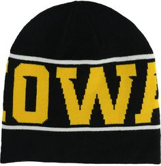 Treat yourself to this Nike Iowa Hawkeyes NCAA FB Player knit hat and stay warm as you cheer on your squad at the game. The knit hat is woven with your favorite team's name around the crown. Mid crown Relaxed fit Woven knit team name Embroidered Nike logo Officially licensed Acrylic Hand wash