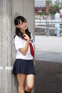 """潮見凪紗 # 潮見凪紗 """"@nagisa810kinoko"""" """"@nagisa810kinoko """" School Uniform Outfits, School Girl Outfit, Girl Outfits, Beautiful Girl Image, Beautiful Asian Women, Japanese School Uniform Girl, Young Girl Fashion, Schoolgirl Style, Cute Japanese Girl"""