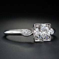 1.39 Carat Diamond Vintage Engagement Ring - 10-1-4335 - Lang Antiques