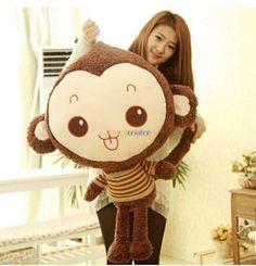 Fancytrader Lovely High Quality Monkey Toy 39'' 100cm Giant Plush Stuffed Monkey Gift, 2 Models Available! Free Shipping FT90187