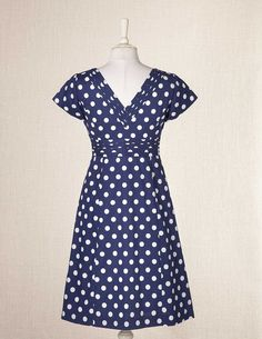polka dot dress with pleated details