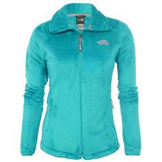 North Face Osito 2 Womens C782-1F7 Turquoise Blue Silken Fleece Jacket Size XL