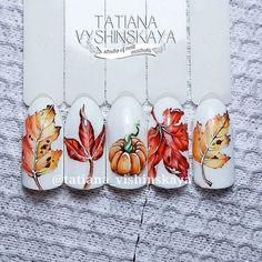 Осень  Акварель гель-лаками. #ногтипятигорск #ногтикмв #дизайнногтей #нейларт #идеальныйманикюр #маникю�