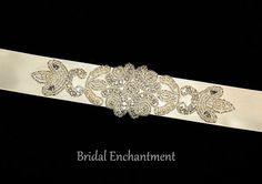 Bridal Sash Swarovski Pearl Rhinestone by BridalEnchantment