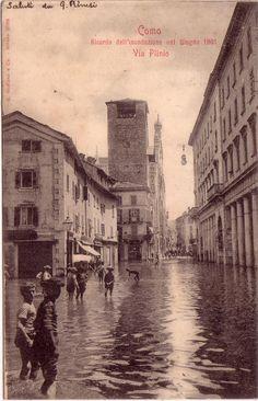 Flood, Cavour Square, Como, 1901