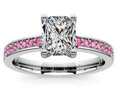Radiant Pave Pink Sapphire Gemstone Engagement Ring in Platinum  http://www.brilliance.com/engagement-rings/pave-pink-sapphire-gemstone-ring-platinum