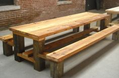 Restaurant Picnic Table.Reclaimed Wood.Hemlock copy by timberandbeam, via Flickr