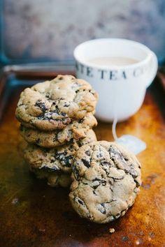 Dark Chocolate and Earl Grey Tea Cookies