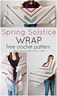 Spring Solstice Wrap - crochet pattern part 1 - MyCrochetory