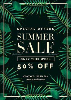 Summer Sale Flyer Template PSD. Download here: https://graphicriver.net/item/summer-sale-flyer/17498336?ref=ksioks