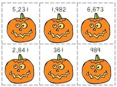Here's a pumpkin-themed activity for matching numbers with their word form.