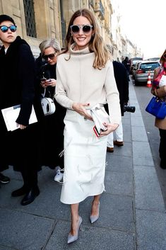 March 06, 2015 Olivia Palermo attends the Chalayan show as part of the Paris Fashion Week Womenswear FW15-16.