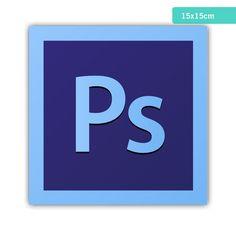 Azulejo Decorado - Adobe Photoshop Logo - R$: 19,90 - Caulim Porcelanas