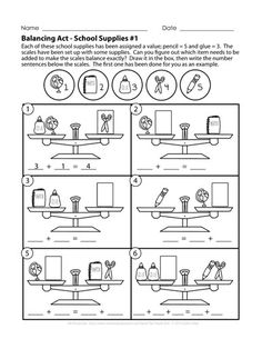 Today's puzzle is for early elementary students studying addition and learning to balance equations! There are two puzzle pages (one easier. Fun Math, Math Games, Balancing Equations, Math Patterns, Guided Math, Student Studying, Math Worksheets, Algebra, Lesson Plans
