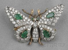 DIAMOND EMERALD BUTTERFLY
