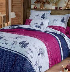Linge de lit en flanelle Forêt magique