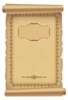 Decorative Scrolled Old Paper PNG Clipart Image