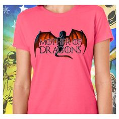 Game of Thrones s6 Mother of Dragons Women's Pink T-Shirt Mother of... (33 CAD) ❤ liked on Polyvore featuring tops, t-shirts, black, women's clothing, black shirt, 3/4 sleeve shirts, 3/4 sleeve t shirt, black checkered shirt and 3/4 length sleeve t shirts