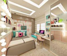"""2,687 Likes, 37 Comments - Interiores e Decor (@interior.inspira) on Instagram: """"Inspiração linda de quarto de menina com toques de cor  ⠀ Autoria: @thaisdias.arquiteta Confira…"""""""