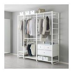 IKEA - ELVARLI, 3 Elemente, Diese offene Aufbewahrungskombination lässt sich nach Wunsch ergänzen oder verändern. Vielleicht gefällt sie dir so - wenn nicht, änderst du einfach nach Bedarf und Geschmack.Integrierte Stopper dämpfen den Schwung beim Zuschieben und sorgen für langsames, geräuschloses Schließen der Schubladen.