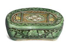A rare and large sancai-glazed pottery pillow, Jin dynasty
