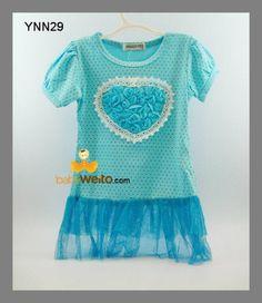 YNN29  Dress Heart Bunga  Warna sesuai gambar  Ukuran > 80 : panjang 48cm , lebar dada 26cm > 110 : panjang 51cm , lebar dada 30cm > 120 : panjang 55cm , lebar dada 32cm  IDR 50*