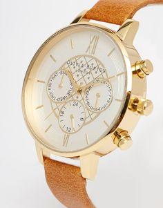 Image 2 - Olivia Burton - Montre chronographe à gros cadran et bracelet en cuir
