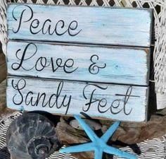 You can enhance the natural beauty of your home with beach house decorating ideas. Coastal Decor like beach art and furniture. Beach Room, Beach Art, I Love The Beach, Peace And Love, Beach Quotes, Quotes Quotes, Ocean Quotes, Crush Quotes, Pallet Art