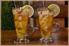 Zázvorový čaj s ovocem Pint Glass, Smoothie, Beer, Mugs, Drinks, Tableware, Lemon, Root Beer, Drinking