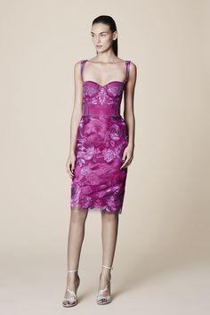 Marchesa - dark pink cocktail dress