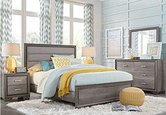 picture of Marlow Gray 5 Pc Queen Panel Bedroom from Queen Bedroom Sets Furniture