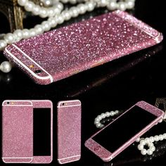Bling Sticker Case For Apple iPhone 6 6s phone cases case cover Full Body Decal Skin Sticker Phone Cover coque For iPhone 6/6S