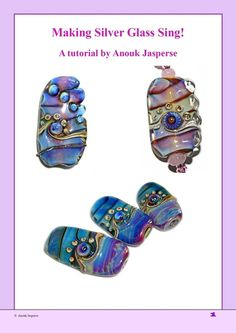Making Silver Glass Sing (Reducing Silver Glass) - Lampwork Tutorial by Anouk Jasperse