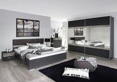 Posteľ s nočnými stolíkmi Penzberg cm, biela/betón Small Master Bedroom, Dream Bedroom, Canape Angle Relax, Bedroom Furniture, Bedroom Decor, Small Bedroom Designs, Bedroom Images, Design Moderne, Contemporary Bedroom
