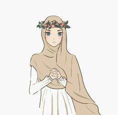 @entigalbii Muslim Girls, Muslim Couples, Muslim Women, Anime Muslim, Muslim Hijab, Girl Cartoon, Cartoon Art, Back Drawing, Anime Girls