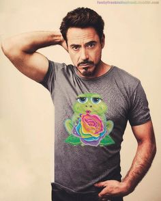 How would your celeb crush look wearing Lisa Frank? They'd look AWESOME, of course! - Robert Downey Jr.