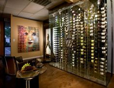 home wine cellar design. Innovative Wine Cellar Designs Offers Luxe Home Storage Contemporary metal racking wine cellar  Modern Cellars