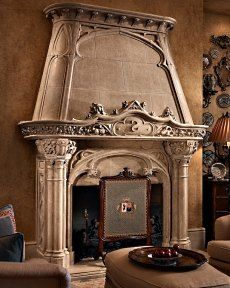 limestone firplace mantle westmont il
