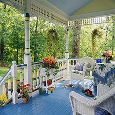 Pretty Spring Porch.