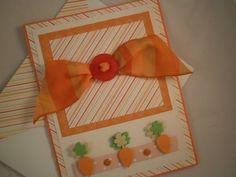 Carrots  Handmade Easter Card with Embellished by ComingUpCrafts, $4.00