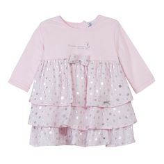 d95a22fd1 Absorba Childrens Designer Clothes - Baby Dress Pink Spot - Dandy Lions  Boutique Pink Dress,