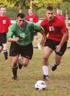 Physical Education at West Point: APFT, IOCT, courses, AND sports participation (photographed: company athletics).