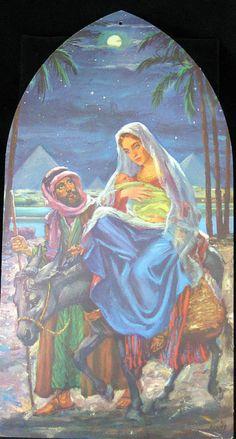 """1962 Dennison 'Flight To Egypt' Die Cut Decoration. Size: 16"""""""