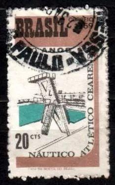brasil 1969 * piscina * plataforma .de saltos