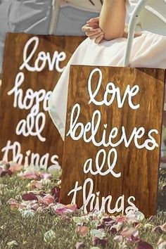 Shop a selection of Love is Patient Love is Kind Corinthians for weddings or other occasions. Love Wedding Themes, Fall Wedding Colors, Gifts For Wedding Party, Wedding Ideas, Boho Wedding, Love Does Not Boast, Love Does Not Envy, Wedding Aisle Decorations, Wedding Aisles