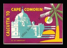 1953 rare original dunlop tyres calcutta to cape comorin promotion #travel pamphl from $22.51