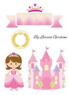 Princess Theme Birthday, Birthday Cake Girls, Birthday Party Themes, Princess Cookies, Yorkie Puppy For Sale, Cake Templates, Unicorn Cake Topper, Cartoon Stickers, Paper Cake