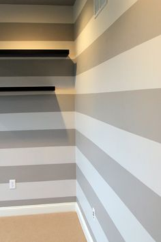 Thinking about stripes for our bathroom. It's *very* small so I think it could help make the room appear larger.